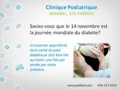 L'examen annuel du pied diabétique prévient les complications.