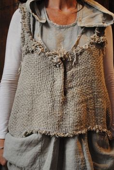 interesting using burlap for clothing.
