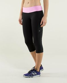Cut The Crop | lululemon athletica | color: black/vintage pink | Lululemon.com