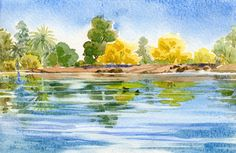 Watercolor Lessons and Exercises from The Watercolor Learning Center - Tucson, AZ Art Lessons, Landscape Paintings, Painting Inspiration, Painting, Watercolor Landscape Paintings, Art, Painting Crafts, Watercolor Lessons, Watercolor Images