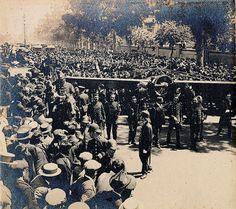 Archivo Gral de la Nacion  1914 Bs. As., entierro de Jorge Newbery pionero de la aviación argentina muerto el 1 de marzo de 1914