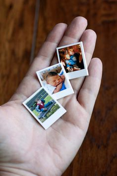 DIY Mini Polaroid Photo Magnets