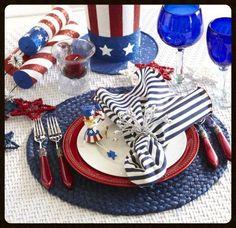 July 4th tablescape idea!