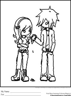 Emo Coloring Pages 4