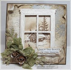 Stampin' Up! Home & Hearth thinlits, A Peaceful Christmas -