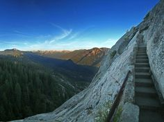SEQUOIA & KINGS CANYON NATIONAL PARK  California    You need to summit nearly 400 stairs to get to the top of Sequoia & Kings Canyon National Park's Moro Rock, but you'll be rewarded with the sweeping panoramic vista.