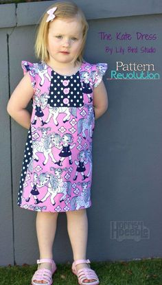 The Kate Dress by Lily Bird Studio sewn in knits! — Pattern Revolution // woven to knit pattern hack