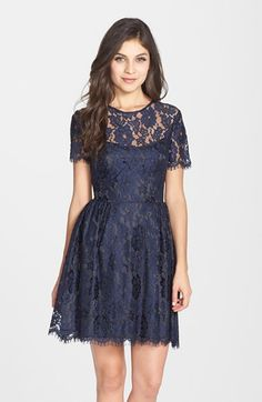 Cynthia Rowley Scalloped Lace Fit & Flare Dress available at #Nordstrom