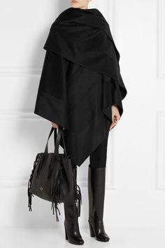 { Dallas Shaw picks: a black cashmere cape coat this winter }