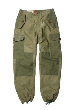 MONILATY* Six Pocket Pants Reclamied US Amry Tents
