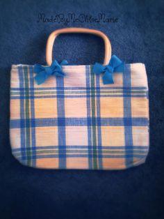 plaid picnic bag $15