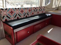 Another after pop up camper redo.. total invested with fabric and paint $150
