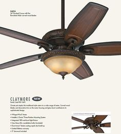 "Hunter 54014 Brushed Cocoa 54"" Indoor Ceiling Fan - 5 Blades and Light Kit Included - LightingDirect.com"