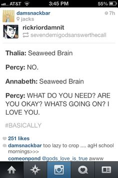 It's only okay when Annabeth says it.