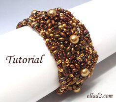 Tutorial Medini Bracelet  Beading tutorial Instant por Ellad2