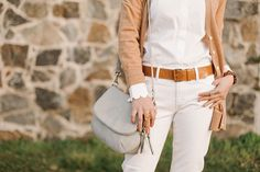 Rawlings Conservatory - Banana Republic - spring neutrals - marc fisher wedges - scallop shirt