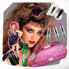 80's products~I have a Caboodle almost exactly like that. I bought it on ebay because it was like the one I had as a teenager. I cried when I took it out of the box. Just so many memories.