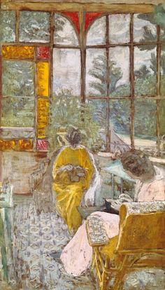 Edouard Vuillard - Dos mujeres bordado en un porche