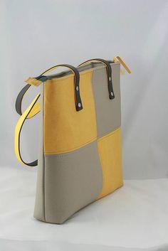 Kabelky - taška Orion šedo-žltá