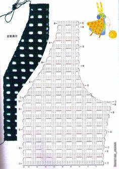 Fabulous Crochet a Little Black Crochet Dress Ideas. Georgeous Crochet a Little Black Crochet Dress Ideas. Gilet Crochet, Lace Knitting Patterns, Crochet Coat, Crochet Cardigan Pattern, Crochet Jacket, Crochet Blouse, Crochet Stitches, Crochet Vests, Crochet Skirts