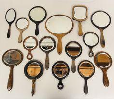 Lost Found Art - Antique Wooden Hand Mirrors
