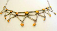 Necklace Choker Rhinestones Steampunk by nanascottagehouse on Etsy, $36.00