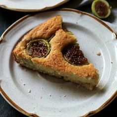 Fig and Lemon Cake Recipe | Diethood -- 1 cup all-purpose flour ½ teaspoon baking powder ¼ teaspoon baking soda 4 tablespoons butter, softened ½ cup sugar 1 whole egg 1 lemon, zested 2 teaspoons pure vanilla extract ½ cup yogurt 1 pint fresh figs, halved 2 to 3 tablespoons turbinado sugar (raw sugar)