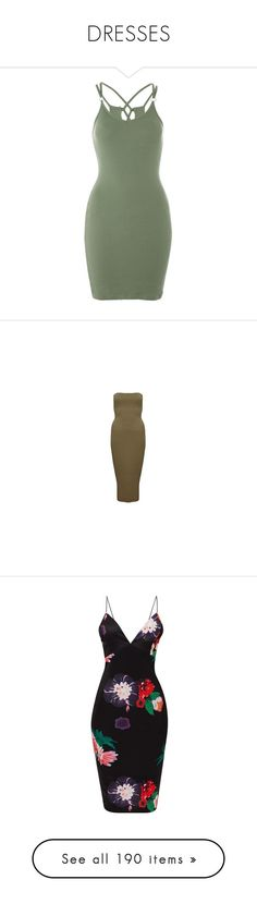"""""""DRESSES"""" by bxtchslayy ❤ liked on Polyvore featuring dresses, braid dress, lattice bodycon dress, topshop cocktail dresses, topshop dresses, green body con dress, brown midi dress, midi day dresses, brown bodycon dress and bandeau dress"""