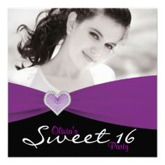 >>>Cheap Price Guarantee Purple Black Purple Sweet 16 Photo Birthday Party Custom Invites Purple Black Purple Sweet 16 Photo Birthday Party Custom Invites lowest price for you. In addition you can compare price with another store and read helpful reviews. BuyThis Deals ...Cleck Hot Deals >>> http://www.zazzle.com/purple_black_purple_sweet_16_photo_birthday_party_invitation-161451303257688139?rf=238627982471231924&zbar=1&tc=terrest