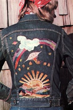 Denim Jacket with embroidery Native Funk and Flash (1974) -- no kidding, 1974