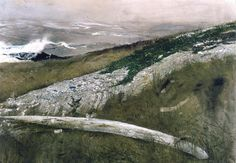 Andrew Wyeth (1917 — 2009, USA) Whale Rib. 1993 watercolor on paper.
