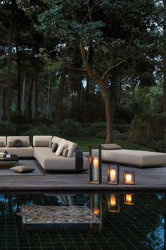 Daybed Outdoor, Outdoor Seating, Outdoor Spaces, Outdoor Living, Outdoor Decor, Outdoor Sofas, Contemporary Outdoor Furniture, Outdoor Furniture Design, Luxury Furniture
