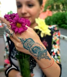 Long Henna Tattoo