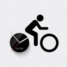 Handmade Wooden Clocks | Clocker Bike - wall clock 12 cm diameter like part of wall decoration ...