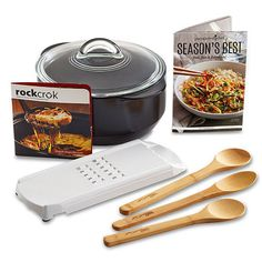 Give a soon-to-be grad or current student a gift that will outlast their college days. Our Rockcrok® is perfect for small kitchens (use it on the stove, in the oven or microwave, on the grill…), and the set includes 25 recipes that will help them stay healthy.