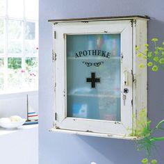 Medizinschrank weiß Medikamentenschrank Arzneischrank Hausapotheke Wandvitrine in Möbel & Wohnen, Möbel, Schränke & Wandschränke | eBay
