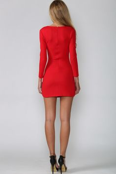 HelloMolly | Smoothie Dress Red - New In