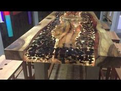 Rheinperle Treibholz DriftWood Epoxidharz Epoxy Resin Artwork Woodworking ToSaLignea - YouTube