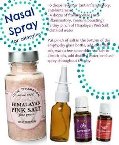 Natural Nose Spray for Allergies Using Young Living Essential Oils. Young Living Distributor #1490202 by gillian.seane