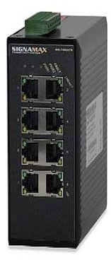 8 10/100BaseT/TX ports, 24 V DC Redundant Power Terminal Block