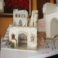 GRUPO DE CASAS RECICLADAS | ARTESANA.... LA WEB. Christmas Nativity, Merry Christmas, Christmas Material, Xmas Decorations, Art For Kids, Fondant, Art Projects, House Design, Portal