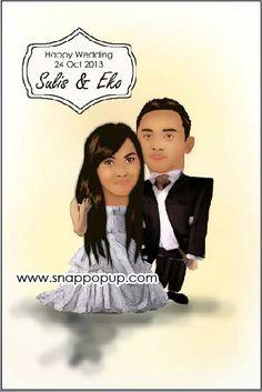 snappopup: karikatur: Sulis & Eko wedding