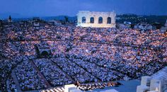 Arena in Verona Italy, saw Carmen in 2002 with 20,000 other people