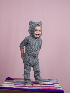 Nice spring weather means dressing your baby up to look like a little baby animal.