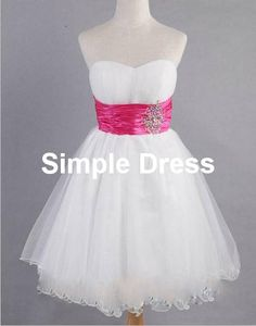 A-line Sweetheart Mini Organza Sashes Beading Short Prom/Evening/Party/Homecoming/Bridesmaid/Cocktail/Formal Dress 2014 New Arrival