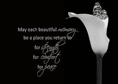 Frases Bonitas Para Todo Momento: May each beautiful memory be a place you return to for strength for comfort for peace.