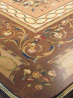 """Beautiful Italian Flooring""- floor?  Looks like a beautiful table top!  Wow"