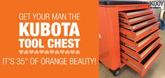 #Kubota #toolchest #toolbox #perfectgift #giftfordad #mancave #musthave www.kooybros.com Kubota, Toolbox, Gifts For Dad, Man Cave, Accessories, Home Decor, Tool Box, Dad Gifts, Dopp Kit