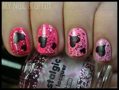 Pink - Ombre - Hearts - Glitter