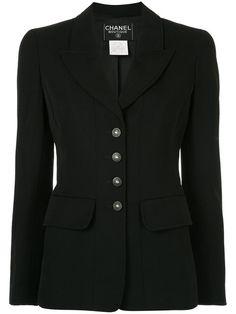 Comprar Chanel Vintage pointed lapels fitted blazer